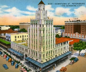 Downtown St.Petersburg - Snell Arcade Postcard