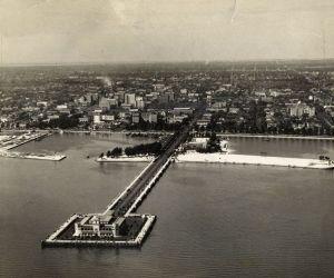 St. Pete Skyline Vintage - Million Dollar Pier