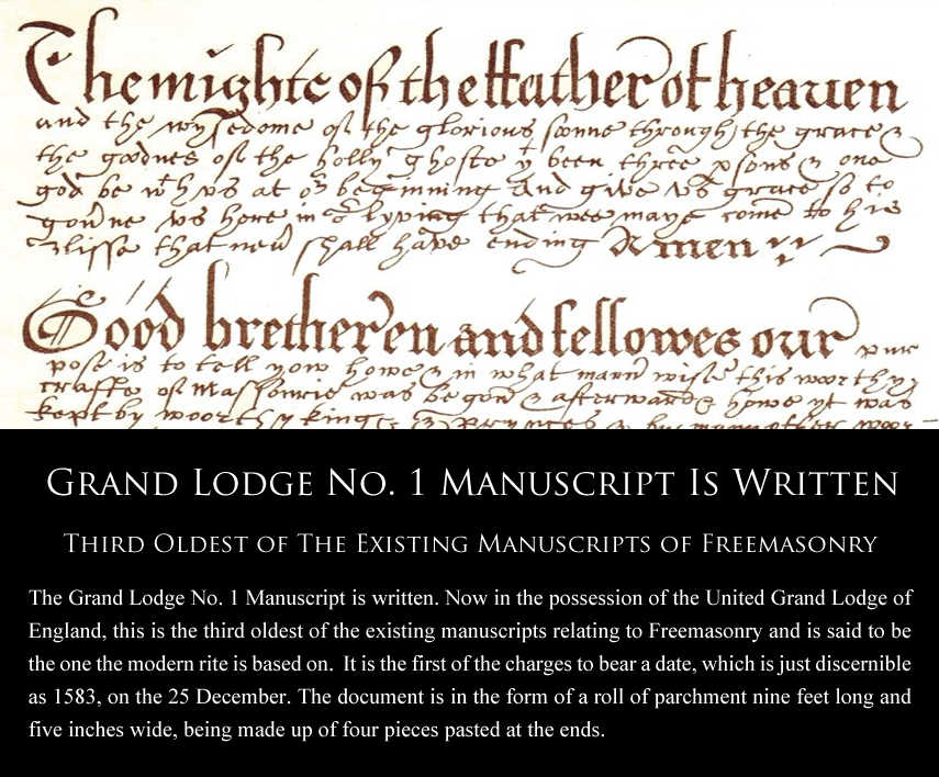 Grand-Lodge-No-1-Manuscript-is-Written