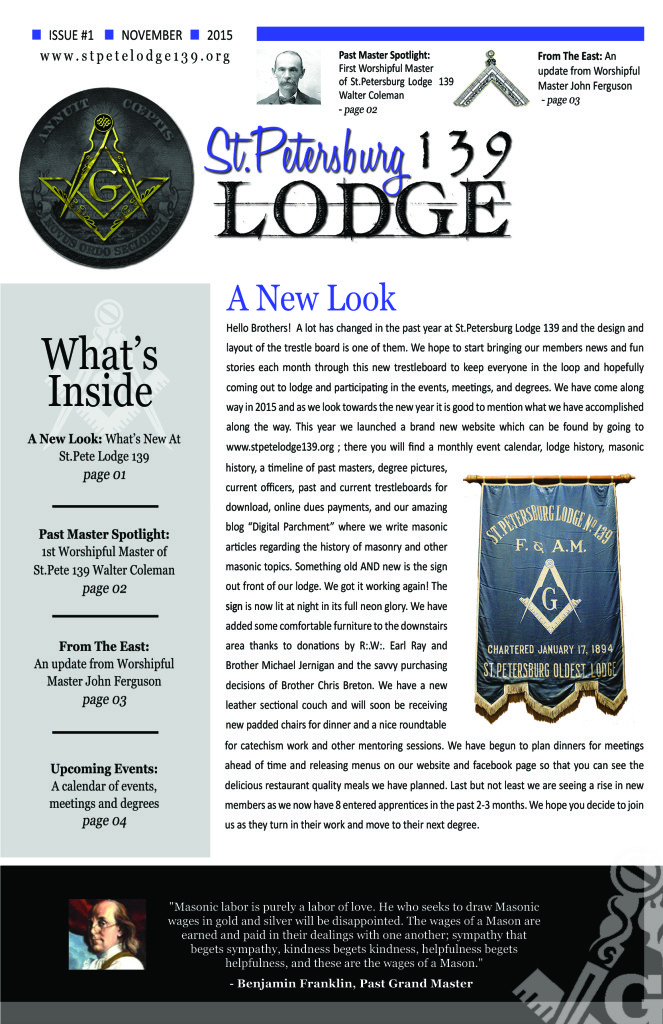 Home - St Petersburg Lodge 139 F  & A  M