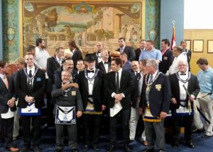 St Pete Lodge Degree Team and Attendees FC Degree 8-4-15