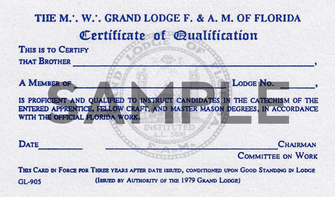 Masonic Advancement - St Petersburg Lodge 139 F  & A  M