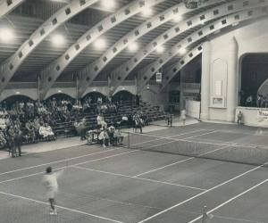 Inside of Coliseum - Tennis Match