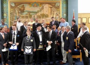 Attendants and Degree Team of St.Pete Lodge 139 on August 4th 2015 - 2nd Picture