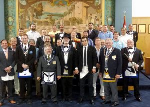 Attendants and Degree Team of St.Pete Lodge 139 on August 4th 2015