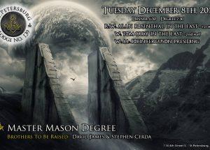 David James - Stephen Cerda Master Mason Degree - December 8th 2015
