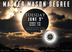 Master Mason Degree Announcement 6-9-15